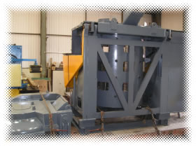Picture of Induction Melting Furnace.